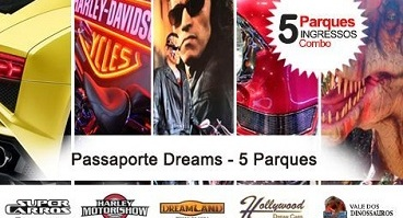 Passaporte Dreams - 5 Ingressos Parques